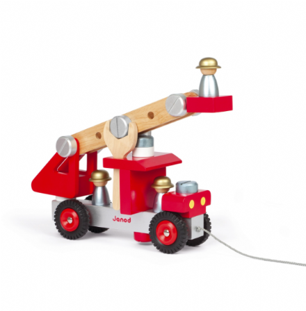 Janod Wooden DIY Fire Truck construction set